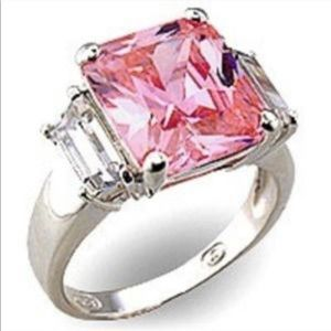 Jewelry - Pink & Colorless CZ Ring W/ Sterling Silver Base💍